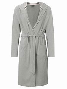 tommy hilfiger stillman bath robe in gray for men grey With tommy hilfiger robe