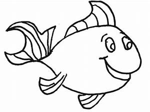 simple fish coloring page - simple fish template coloring home