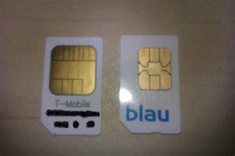blaude sim karte bzw deren kontaktberiche passt nicht