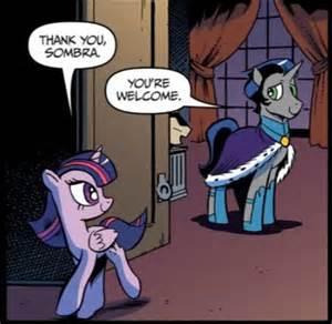 MLP King Sombra and Twilight Sparkle Comics