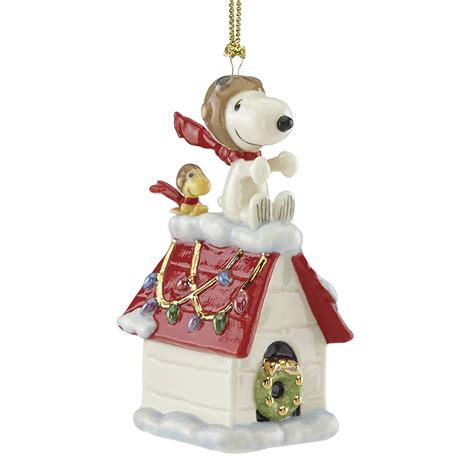 peanut s snoopy ornament snoopy the flying ace lenox
