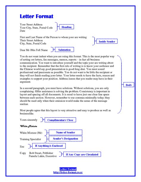business letter format  cc business