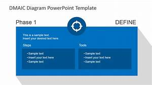 flat dmaic powerpoint template slidemodel With dmaic template ppt