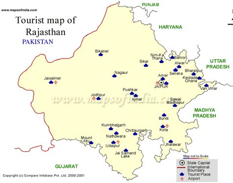 top tourist place india map  rajasthan