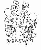 Coloring Parents Grandparents Visiting Gran Obeying Colouring Celebration sketch template