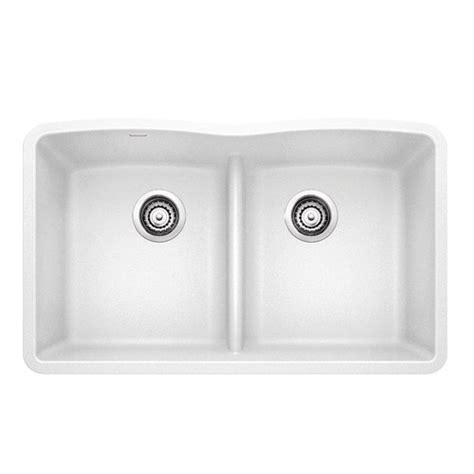BLANCO 442074 DIAMOND Equal Double Bowl with Low Divide