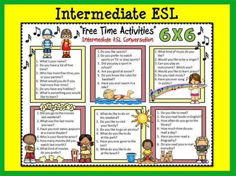 """Esl Conversation Boards """"free Time Activities"""" Beg & Int  Activities, Esl And Free Time"""