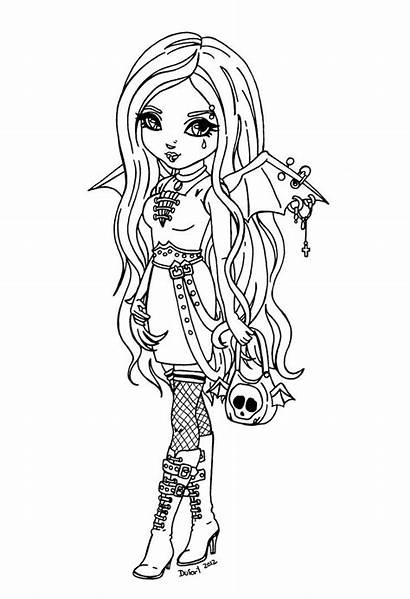 Gothic Deviantart Coloring Pages Fairy Jadedragonne Anime