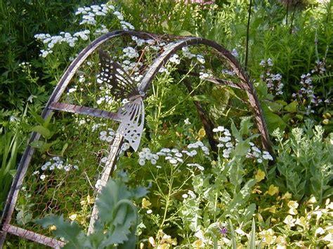 garden art junk  pinterest salvaged doors pallets
