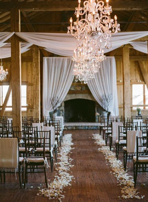 romantic winter wedding aisle decor ideas deer pearl