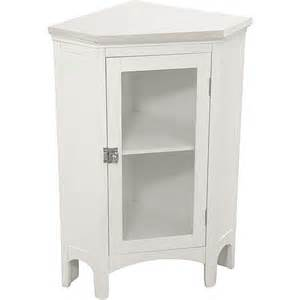 classy collection corner floor cabinet white walmart com