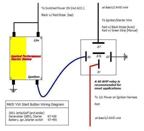 Volkswagen Start Wiring Diagram by Vwvortex Engine Start Button Installed Write