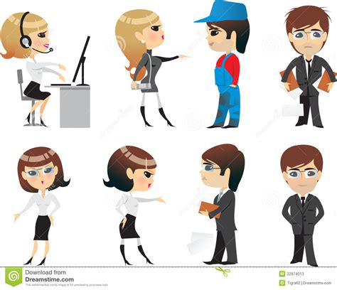 Office Of Professions by Profession Office Character Stock Vector Image 22974013