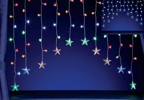 Multi Led Star Curtain Light How To Hang Curtains On Two Side By Windows Green And White Blackout Small Shower Curtain Hooks Corner Rod Without Ceiling Support Striped Upholstery Fabric For Pole Recess Brackets Wood Country Door Panel Custom Made Spotlight