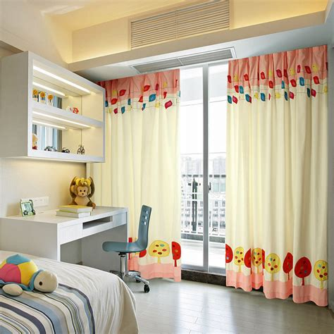 blackout kids bedroom curtains  patterns  cute chicken