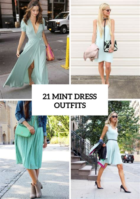 21 Gentle Outfits With Mint Green Dresses - Styleoholic