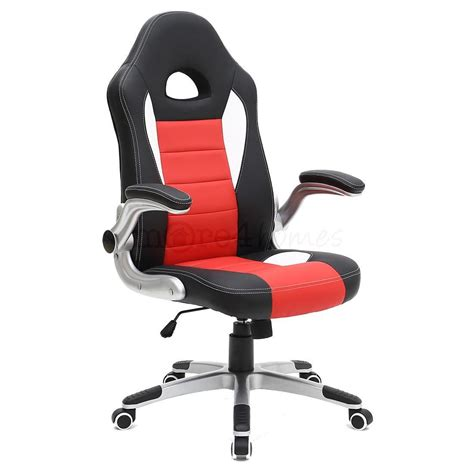 chaise bureau gaming sport racing car office chair leather adjustable