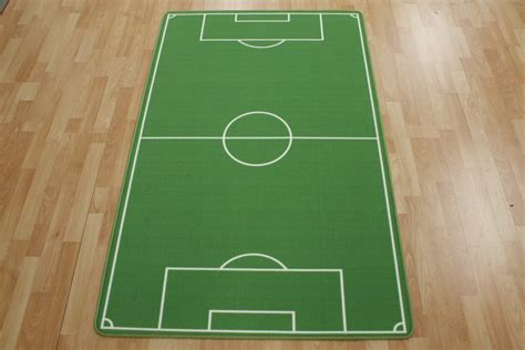 Football Field Rug Children's Play Rug Green Xcm