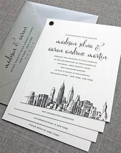 madison booklet new york skyline wedding invitation sample With wedding invitations chinatown nyc