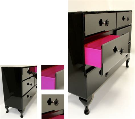 black dresser pink drawers i d like to do this to ours but with blood instead