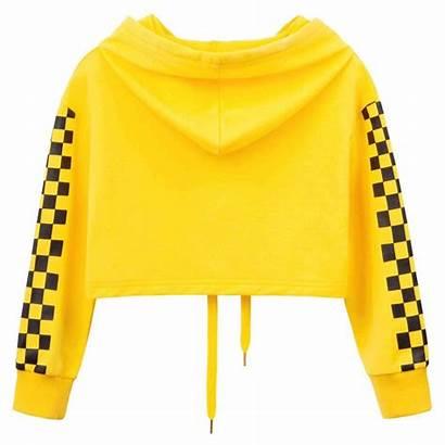 Yellow Loose Plaid Eveny Tops Wear Years