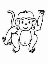 Monkey Coloring Pages Baby Printable sketch template
