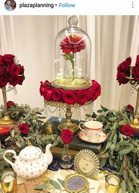 Beauty and The Beast Inspired Wedding Display Beauty and