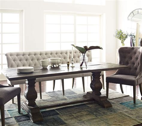 french tufted upholstered dining bench banquette