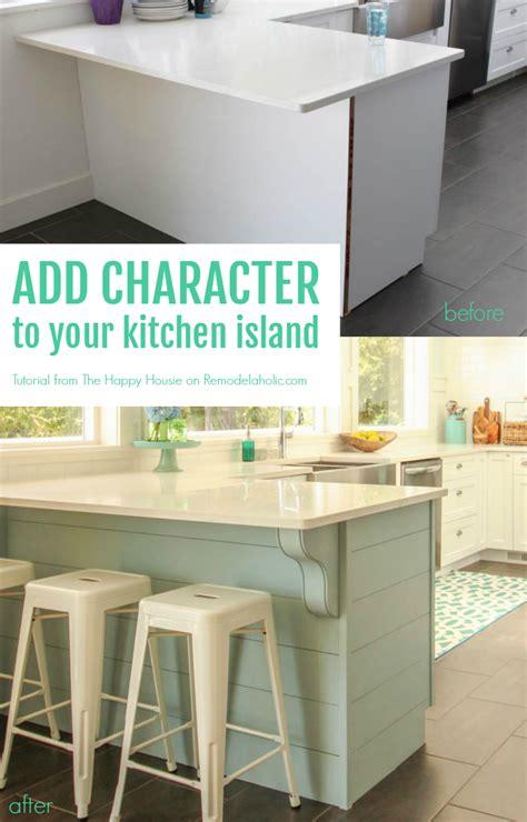 inexpensive kitchen islands remodelaholic update a plain kitchen island or peninsula