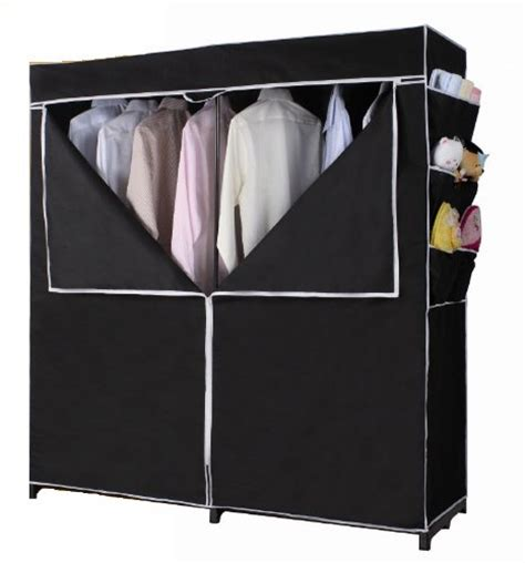 portable closet wardrobe clothes garment rack black shoes