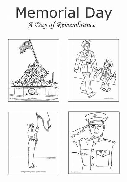 Memorial Coloring Pages Printable Sheets Activities Usa