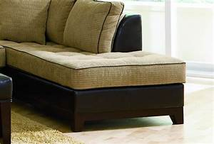 beige chenille fabric contemporary sectional sofa w vinyl base With beige chenille sectional sofa