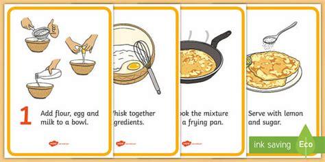 pancake recipe cards teacher