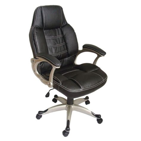 black desk chair black office chair high back real leather vidaxl