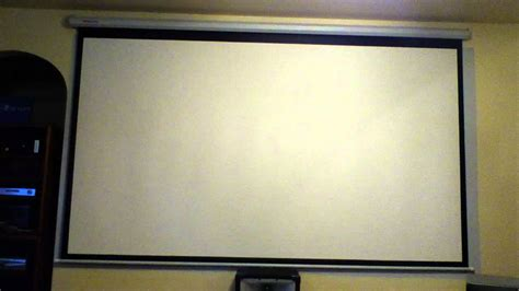 """FAVI 120"""" PROJECTION SCREEN REVIEW YouTube"""