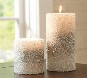Silver beaded pillar candles for What kind of paint to use on kitchen cabinets for decorative candles holders