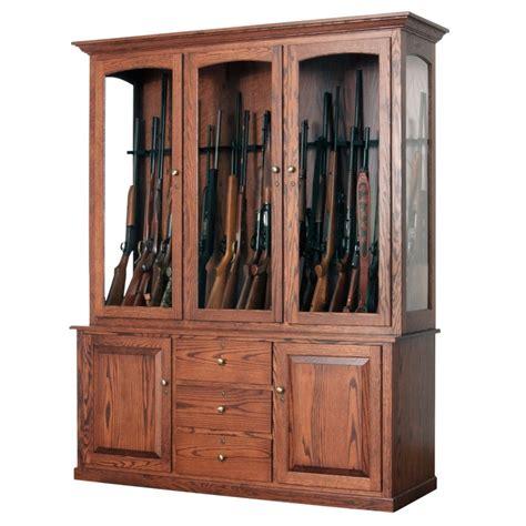 Wooden Gun Cabinets by 20 Gun Cabinet Amish Made Large Gun Cabinet