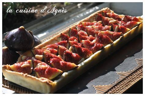 la cuisine aux images tarte aux figues et pignons à la crème de noisette la