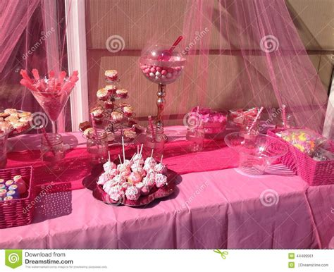 Black 50th Birthday Decorations by Pink Candy Bar Stock Photo Image 44489561