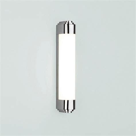 low energy art deco style bathroom wall light with chrome