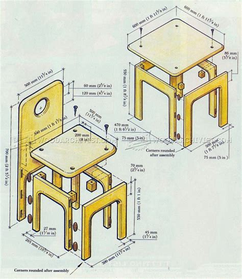 kids table  chair plans woodarchivist