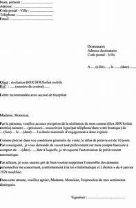 Rendre Box Sfr En Magasin : mod le de lettre r siliation contrat box sfr forfait ~ Dailycaller-alerts.com Idées de Décoration