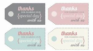 8 best images of diy printable thank you tags thank you With free diy wedding favor tags template