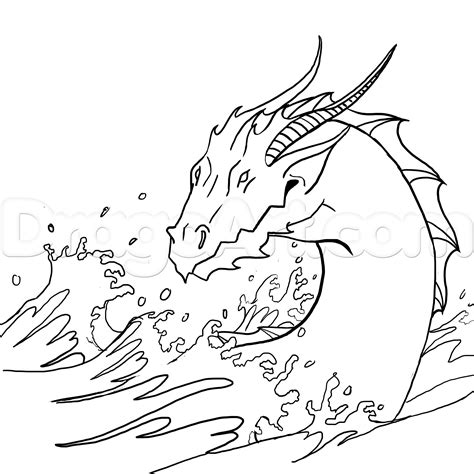 How To Draw A Water Dragon Or Sea Serpent Step 71