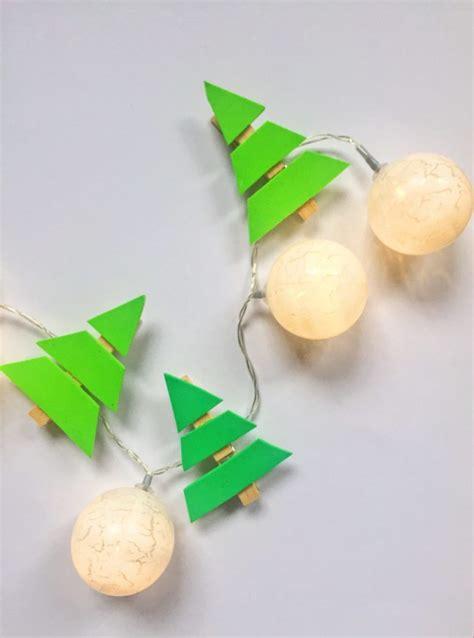 Weihnachtsdeko basteln  Lichterkette selber machen mit