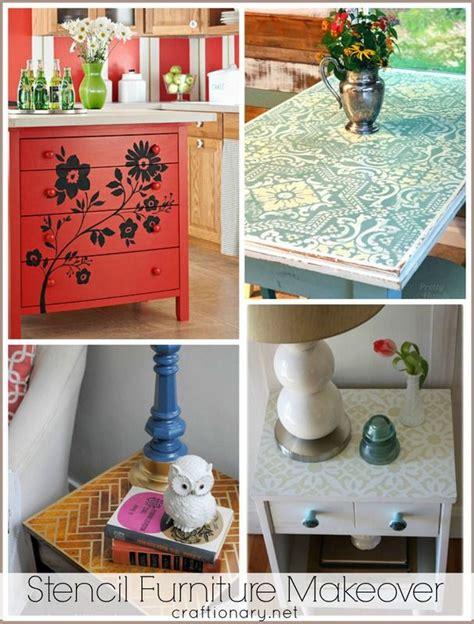 stencil furniture makeovers furniture makeover diy