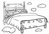 Bed Coloring Beds Bunk Template sketch template