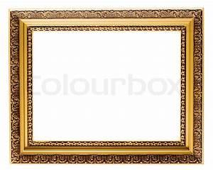 Leere Bilderrahmen Dekorieren : leere vergoldete bilderrahmen aus holz auf wei em hintergrund isoliert stockfoto colourbox ~ Markanthonyermac.com Haus und Dekorationen