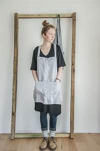 Not Perfect Linen : not perfect linen short square cross linen apron washed silver hafen ~ Buech-reservation.com Haus und Dekorationen