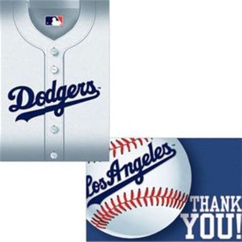los angeles dodgers invitations   notes